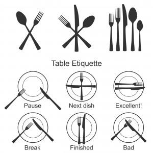 Dining etiquettes of elite people